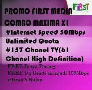 Paket First media Combo Maxima